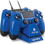 4Gamers Dual Charge 'N' Stand Blue PS4