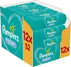 Pampers Fresh Clean 624τμχ (12x52τμχ)