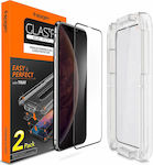 Spigen x2Pack Glas.tR EZ Fit Tempered Glass (iPhone X / XS)