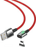 Baseus Zinc Braided / Magnetic USB to Lightning Cable Κόκκινο 1m (CALXC-A09)