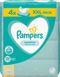 Pampers Sensitive 4x80τμχ