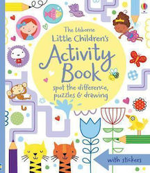 THE USBORNE LITTLE CHILDREN'S ACTIVITY BOOK SPOT THE DIFFERENCE, PUZZLES AND DRAWING