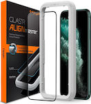Spigen AlignMaster Full Face Tempered Glass Μαύρο (iPhone 11 Pro Max)