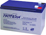 Pattern Battery PT7.2-12 12V 7.2Ah
