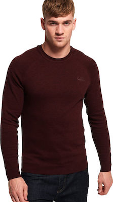 Superdry Orange Lebel Cotton Crew Buck Burgundy Marl