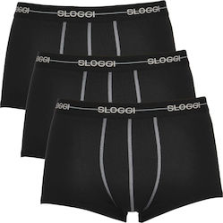 Ανδρικό Boxer Sloggi Start Hipster 10074006-0004 3Pack Black