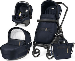 Peg Perego Book 51 Jet Elite Modular 3 in 1 Ergonomic Handle Completo Rock Navy