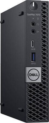Dell Optiplex 7070 MFF (i7-9700T/8GB/256GB/W10)