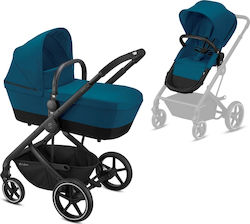 Cybex Balios S 2 in 1 Frame Black Seat River Blue
