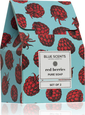 Blue Scents Red Berries Pure Soap Set of 2 x 135gr