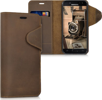 KW Wallet Suede Καφέ (Galaxy J5 2017)