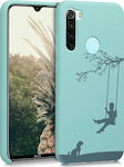 KW Engraved Kid Swing Back Cover Mint (Redmi Note 8)