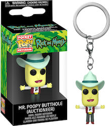 Pocket Pop! Keychain Animation: Rick and Morty - Mr. Poopy Butthole (Auctioneer)