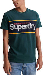 Superdry Core Logo Stripe M1010066A-XO9 Green