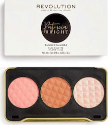 Revolution Beauty X Patricia Bright Summer Sunrise Face Palette