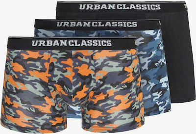 Urban Classics Boxer Shorts 3-Pack blue camo/orange camo/black TB3538