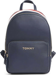Tommy Hilfiger Τσάντα Πλάτης Δερματίνης TH CORPORATE AW0AW07689-0GZ Navy