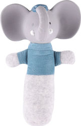 Tikiri Alvin the Elephant Soft Squeaker Toy with Rubber Head