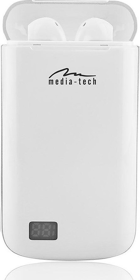 Media-Tech R-Phones Power  Earbud Bluetooth Handsfree Λευκό (MT3598) - Πληρωμή και σε έως 36 Δόσεις!!!