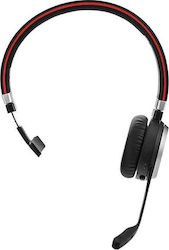 Jabra Evolve 65 Wireless Mono OnEar Headset Microsoft Certified Headphones With LongLasting Battery USB Bluetooth Adapter Black
