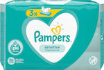 Pampers Sensitive 3 Packs 156τμχ