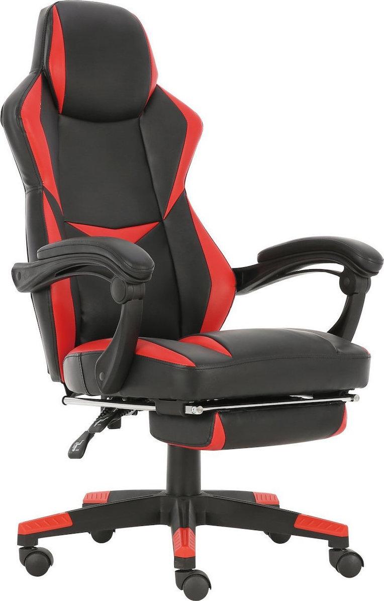 ES Market Καρέκλα Γραφείου ΑΓΝΗ Κόκκινο PVC 66x68x115-123cm