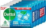 Dettol Intense Cool Menthol Soap 5x125gr