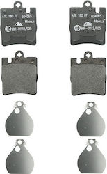ΣΕΤ ΤΑΚΑΚΙΑ / Brake pads set rear (with extras) MERCEDES C (CL203), C T-MODEL (S203), C (W203), CLC (CL203), CLK (A208), CLK (A209), CLK (C208), CLK (C209), E (W210), SLK (R171) 1.8-5.4 06.95-06.11 ( 13.0460-4065.2 )