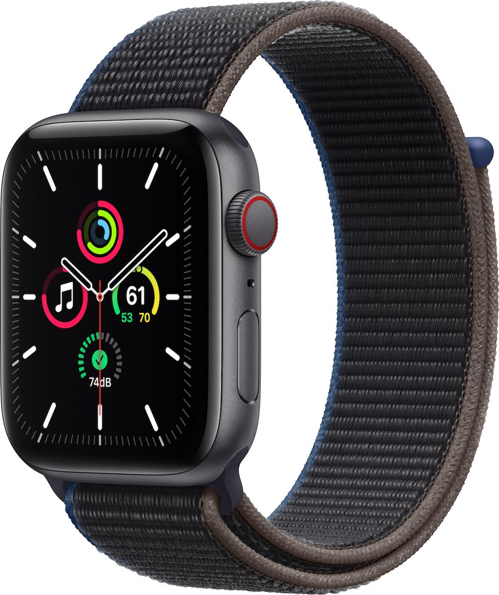 Apple Watch SE Aluminium Cellular 44mm (Space Gray & Charcoal Sport Loop) (MYF12WB/A) - Πληρωμή και σε έως 36 Δόσεις!!!