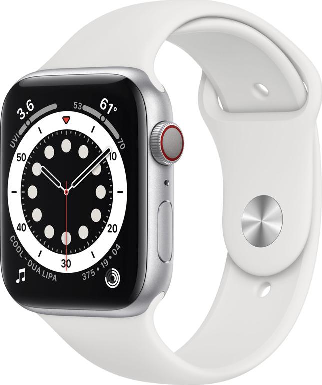 Apple Watch Series 6 Aluminium Cellular 40mm (Silver) (M06M3WB/A) - Πληρωμή και σε έως 36 Δόσεις!!!