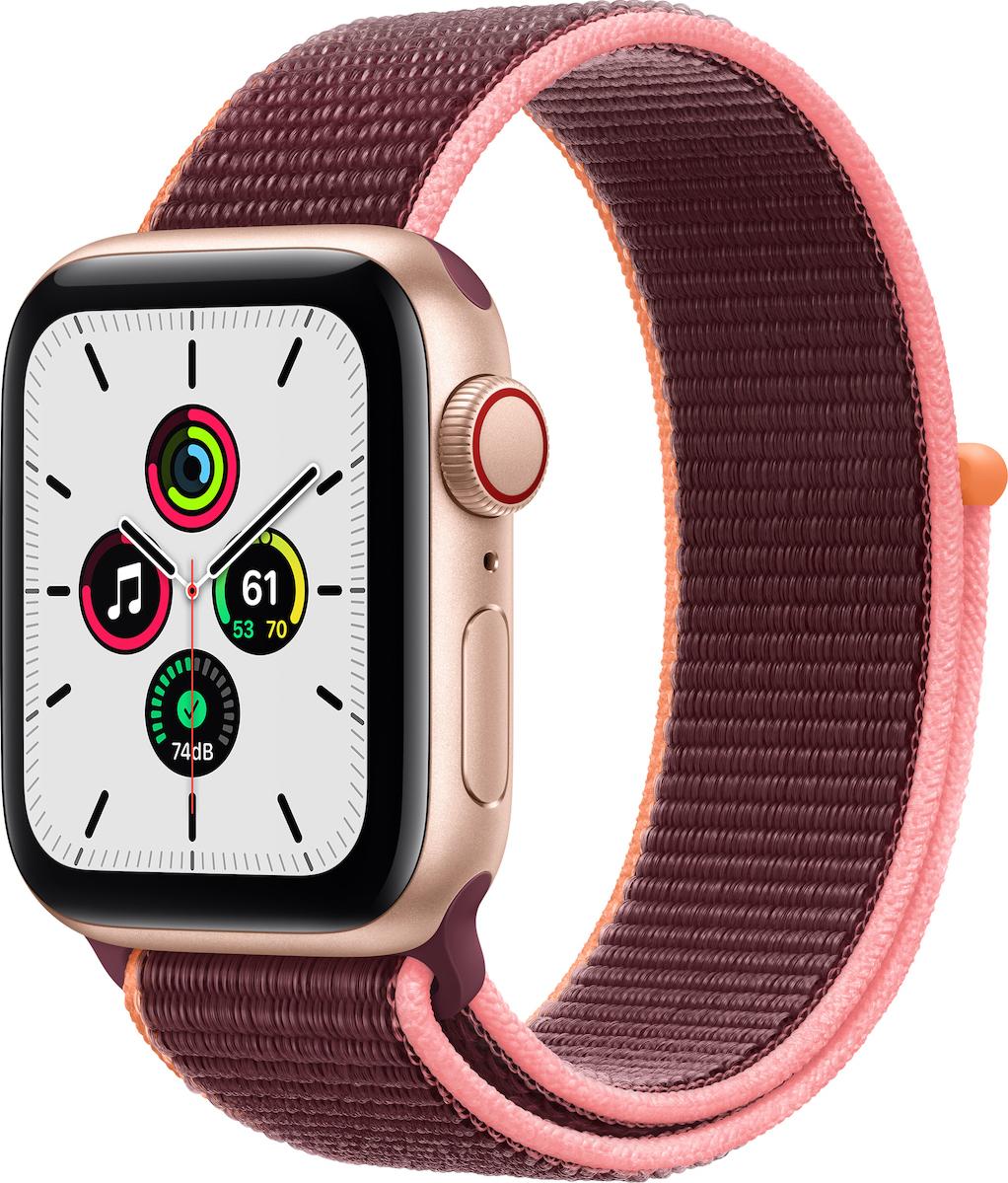 Apple Watch SE Aluminium Cellular 40mm (Gold & Plum Sport Loop) (MYEJ2WB/A) - Πληρωμή και σε έως 36 Δόσεις!!!