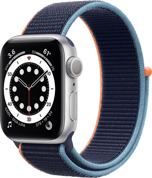Apple Watch SE Aluminium Cellular 40mm (Silver & Deep Navy Sport Loop) (MYEG2WB/A) - Πληρωμή και σε έως 36 Δόσεις!!!