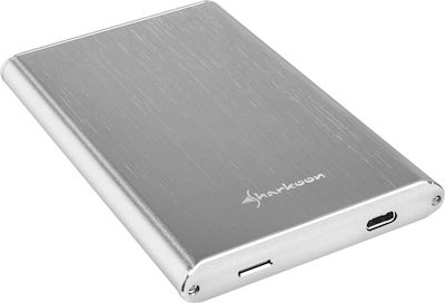 Sharkoon Rapid-Case 2.5'' USB 3.1 Type C Ασημί