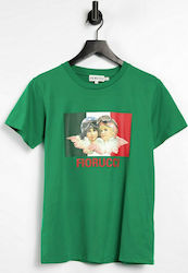 Fiorucci co-ord racing angels logo t-shirt in green